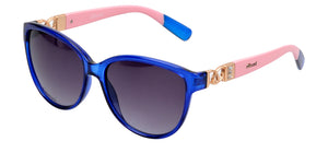 Gionni Sunglasses - Cat Eye With Combination Temple Sunglasses in Pink/Blue