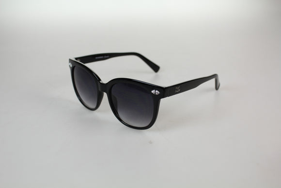 Gionni Sunglasses - Large Wafer With Swarovski Detail Sunglasses in Black