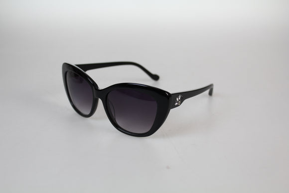 Gionni Sunglasses - High Quality Acetate Cat Eye Diamante Temple  Sunglasses in Black