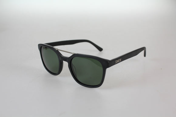 Dice Sunglasses - Gents Acetate Double Bridge Frame Polarised Lens in Matt Blue