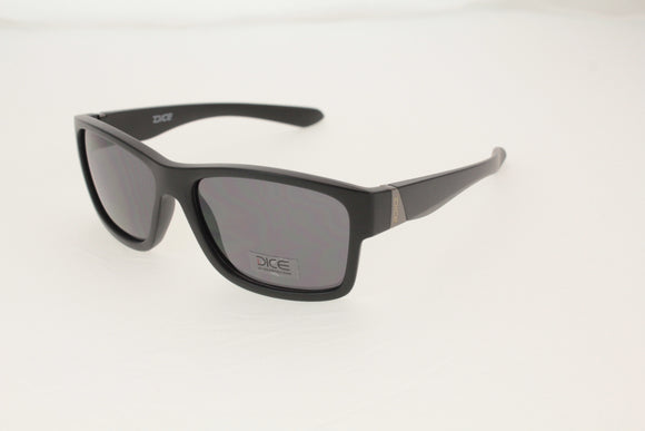 Dice Sunglasses - Gents Plastic Wafer With Metal Temple in Matt Black/Smoke