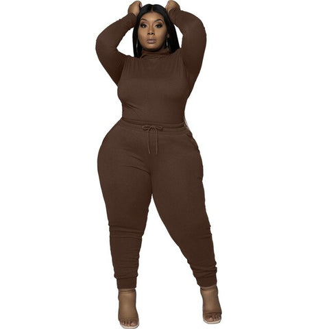 Women 2 Piece Set Jogging Suit Sweatsuits Lounge Set Long Sleeve Plus Size 4XL 5XL Two Piece Set Fall Women Activewear Clothing