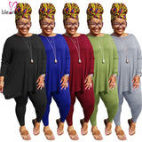 Big Women Plus Size Pant Sets Plus Size Two Piece Set 4XL 5XL Long Sleeve Tops And Jogging Femme Tracksuit 2 Piece Sets Outfits