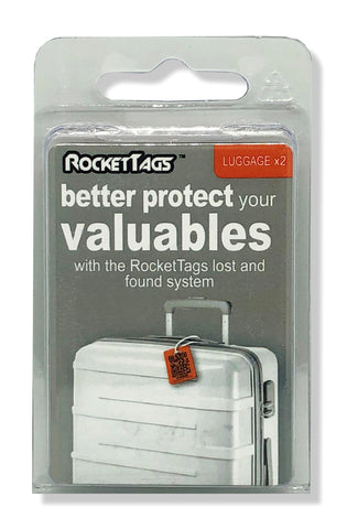 Luggage RocketTags_Orange & Grey