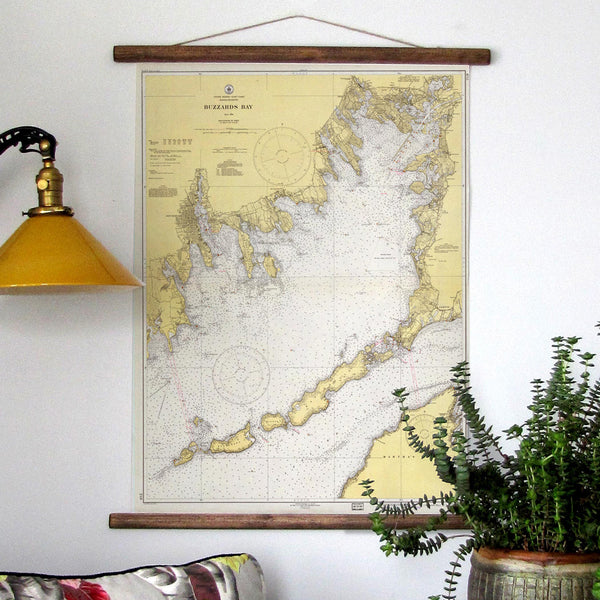 Buzzards Bay, Mass Vintage Chart c. 1939