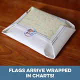 Nautical chart gift wrap