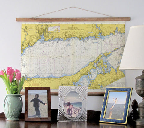 Eastern Long Island Sound Vintage Chart, c. 1958 - mysignalflags