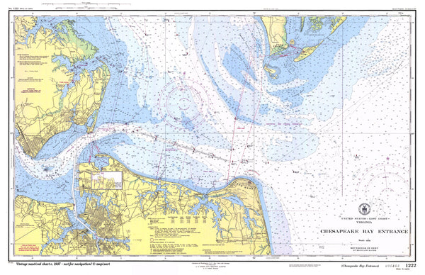 Norfolk to Virginia Beach Chart Placemat - 4 pack