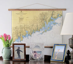 Greenwich to Norwalk, CT Nautical Chart c. 1950 - mysignalflags