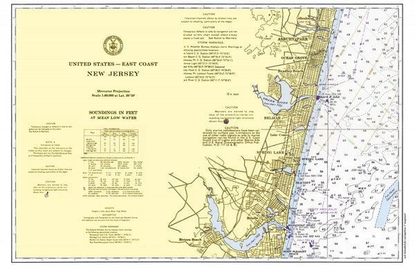 Long Branch, New Jersey to Seaside Park Placemat