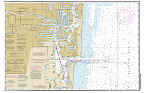 Ft Lauderdale to Port Everglades 2014 Chart placemat