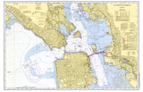 San Francisco Bay, CA Nautical Chart Placemat - 4 pack - mysignalflags