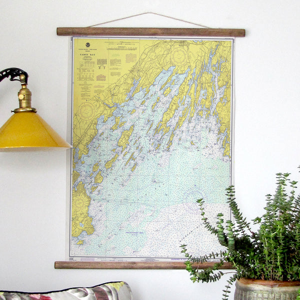 Casco Bay to Harpswell Vintage Chart, c. 1966