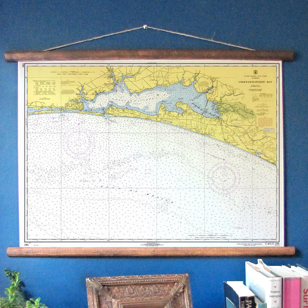 Destin, Florida and Choctawhatchee Bay Vintage Nautical Chart