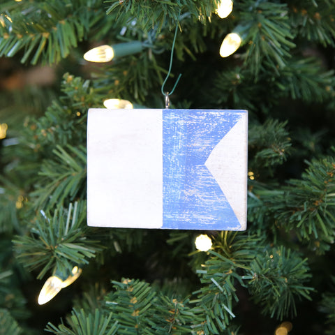 """A"" Flag Vintage Ornament - mysignalflags"