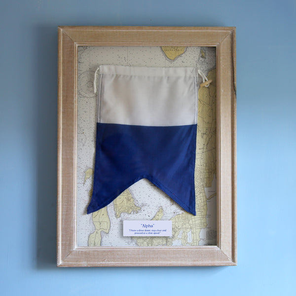 """A"" Framed Signal Flag"