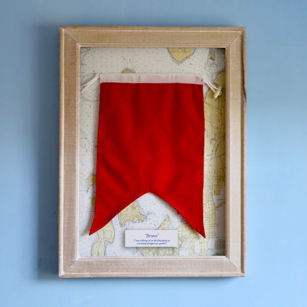 """B"" Framed Signal Flag"