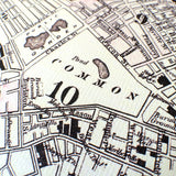 Boston Map, vintage 1879 - mysignalflags