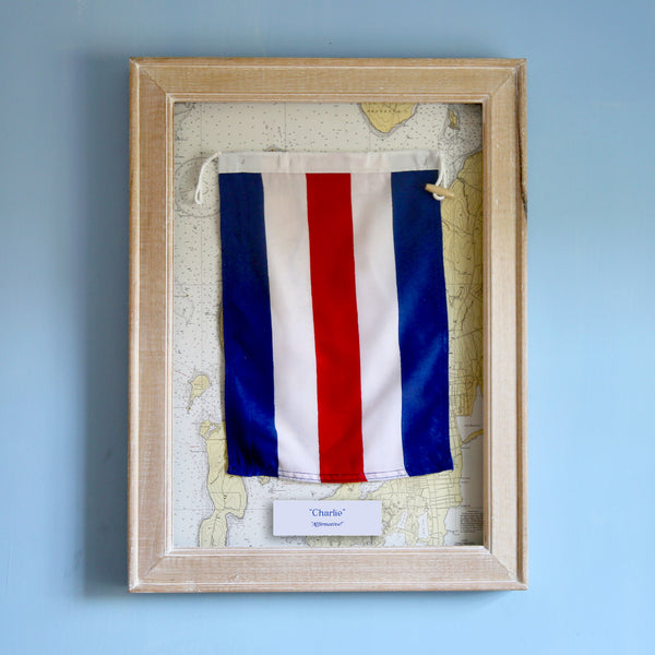 """C"" Framed Signal Flag"
