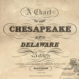 Chesapeake Bay Vintage Nautical Chart