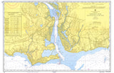 Old Saybrook, CT Nautical Chart Placemat - 4 pack - mysignalflags