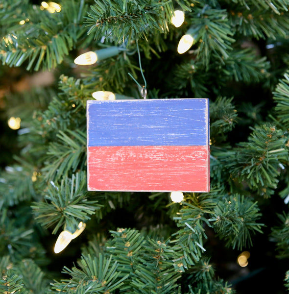 """E"" Flag Vintage Ornament"