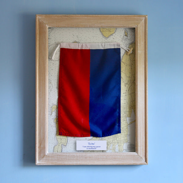 """E"" Framed Signal Flag"