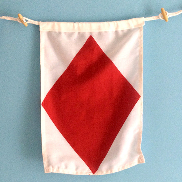 """F"" Nautical Signal Flag"