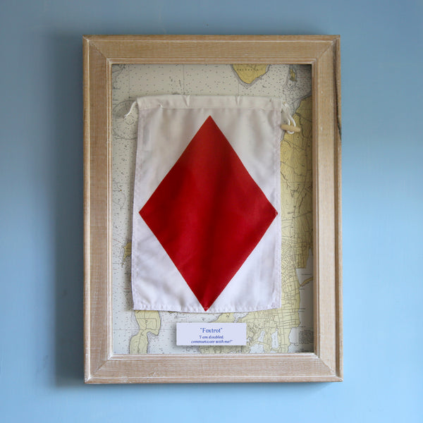 """F"" Framed Signal Flag"