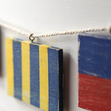 Nautical Flag Garland with Your Initials - mysignalflags