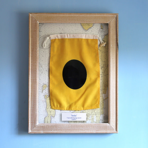 """I"" Framed Signal Flag"