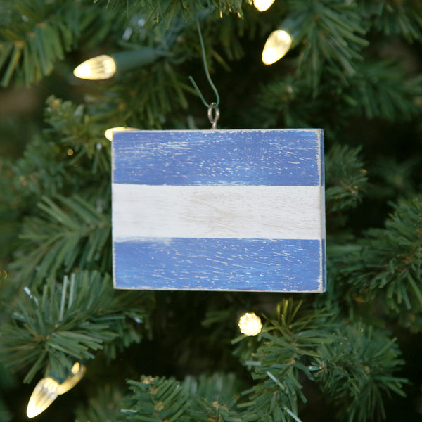 """J"" Flag Vintage Ornament"