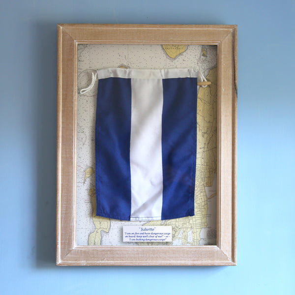 """J"" Framed Signal Flag"