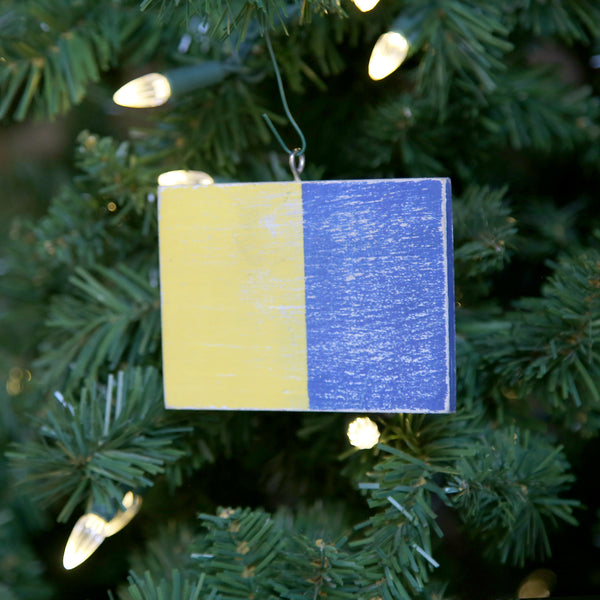 """K"" Flag Vintage Ornament"