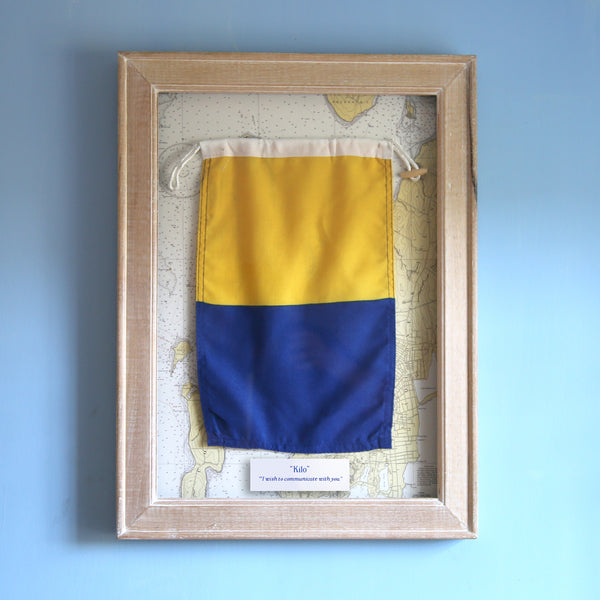 """K"" Framed Signal Flag"