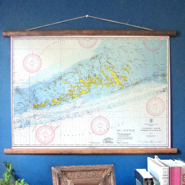 Key West Vintage Nautical Chart