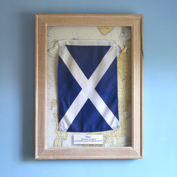 """M"" Framed Signal Flag"