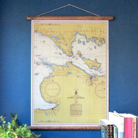 Mackinaw Island, Michigan Vintage Nautical Chart - mysignalflags