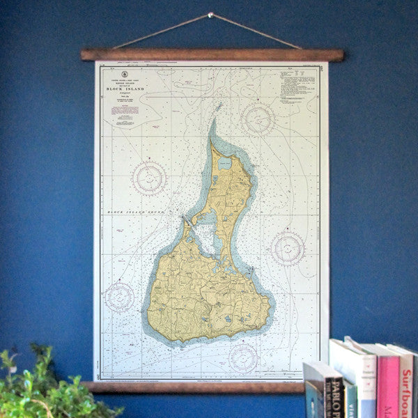 Block Island Nautical Chart, c. 1952