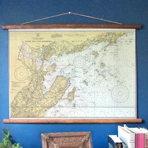 Marblehead, Massachusetts Vintage Nautical Chart - mysignalflags