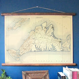 Martha's Vineyard Vintage Topographical Map Scroll