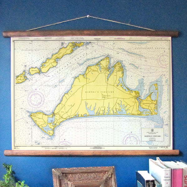 Martha's Vineyard, Massachusetts Vintage Nautical Chart