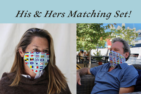 His and Hers nautical flag face coverings -