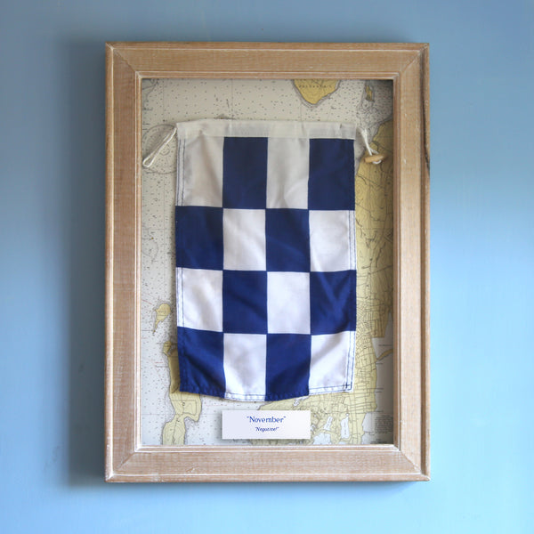 """N"" Framed Signal Flag"