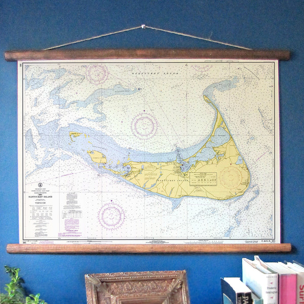 Nantucket Vintage Nautical Chart My Signal Flags