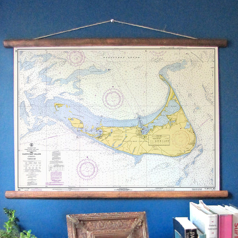 Nantucket Vintage Nautical Chart - mysignalflags