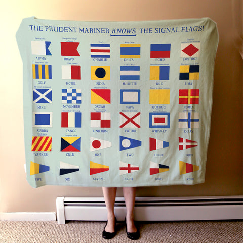 Nautical Signal Flags Blanket - mysignalflags
