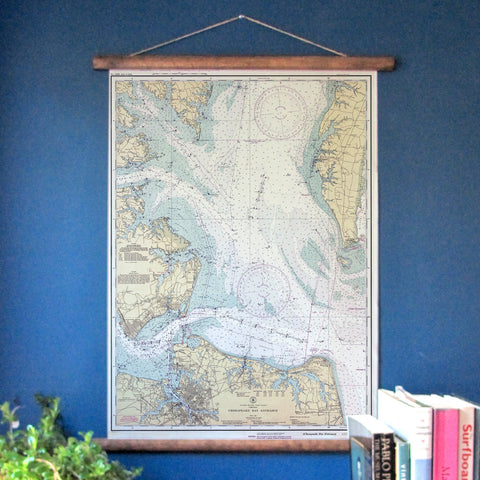 Norfolk, VA and Southern Chesapeake Vintage Nautical Chart - mysignalflags