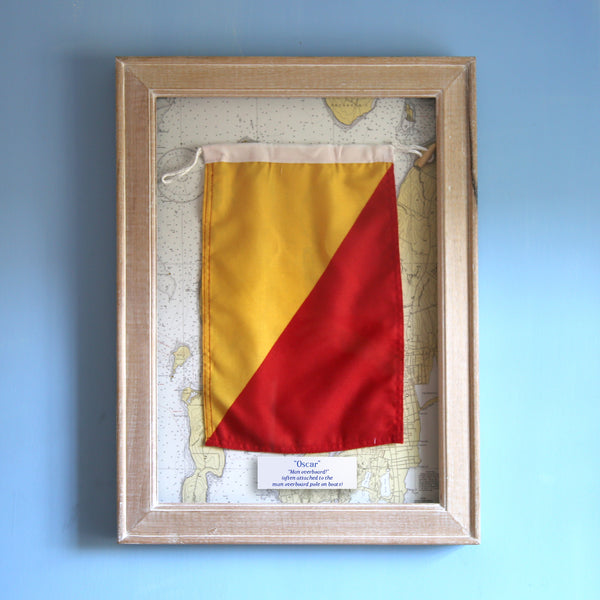"""O"" Framed Signal Flag"