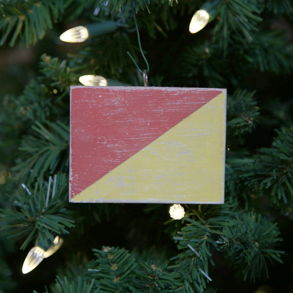 """O"" Flag Vintage Ornament"